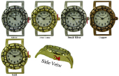 LOT of 5 of Bali Style Heart Solid Bar Watch Faces