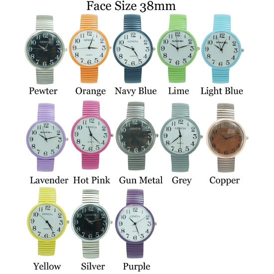 Round Stretch Band 40mm Ladies Fashion Watch 38mm