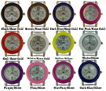 LOT of 8 Spring Bar Beading Watch Faces Chrono Style
